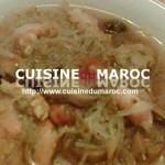 Soupe de vermicelle aux crevettes