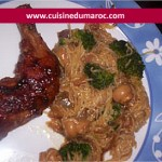 Vermicelles au poulet à l'asiatique
