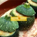 Courgettes rondes farcies au champignon et viande hachée