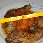 Cuisses de poulet aux carottes confites