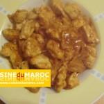 Blanc de poulet en dès à la sauce